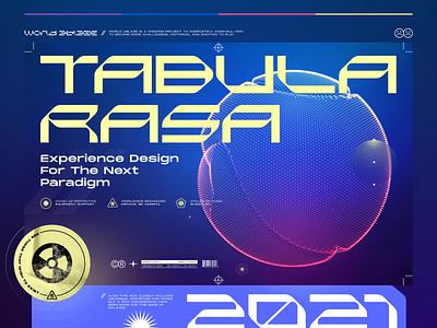 TABULA RASA tabula rasa cinema 4d 3d typo user interface ui concept design look and feel web promo