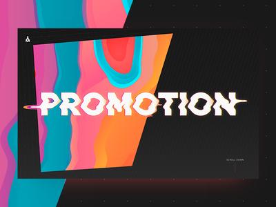 Promotion digital promo screen web massonic sponge gradient