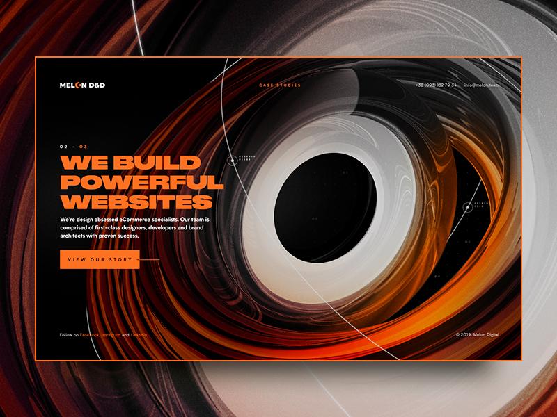 Melon Digital, pt. 2 illustration graphic 3d colors cinema 4d page colorful design web digital screen promo