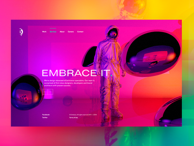 Embrace It gradient color character screen modeling 3d cinema 4d