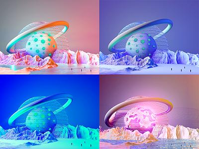 Parralel Universe colors graphic modeling 3d cinema 4d
