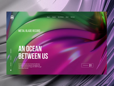 An Ocean Between Us screen promo graphic 3d music animation motion cinema 4d