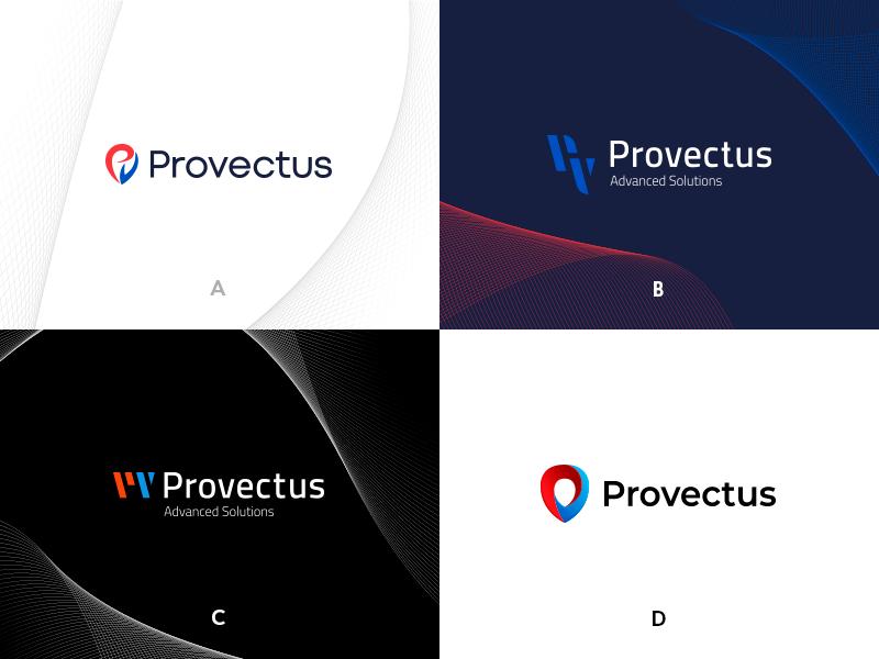 Provectus Logo Concept symbol digital letters concept logo