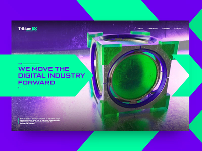 Tritium DX lettering branding motion screen tritium animation digital octane cube symbol logo