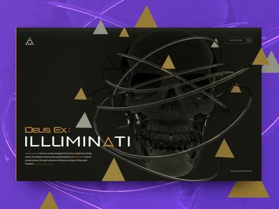 Deus Ex: Iluminati design deus ex machine ex machina deus promo motion animation cinema 4d 3d mankind divided human revolution illuminati adam jensen prg game deus ex