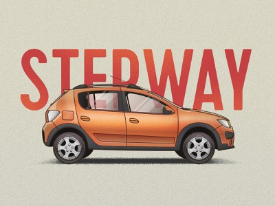 Renault Stepway stepway illustration art vector car renault