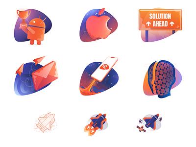 Reinvently Illustrations illustration art vector hero images graphic promo illustration