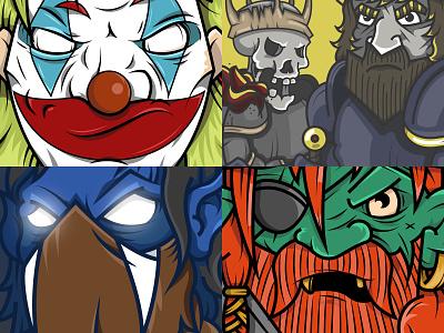 Illustration Pack 2 illustration vector pirates pirate vampire soul reaver raziel comics dc joker