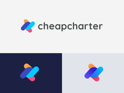Cheapcharter route logo design flaticons airlines abstract mark ticket charter flight search fly logotype logo
