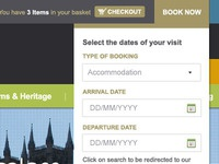 Book Now drop-down