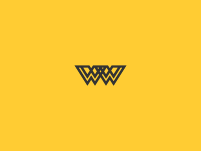 W invite yellow w