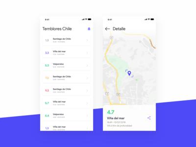 Earthquake Chile App