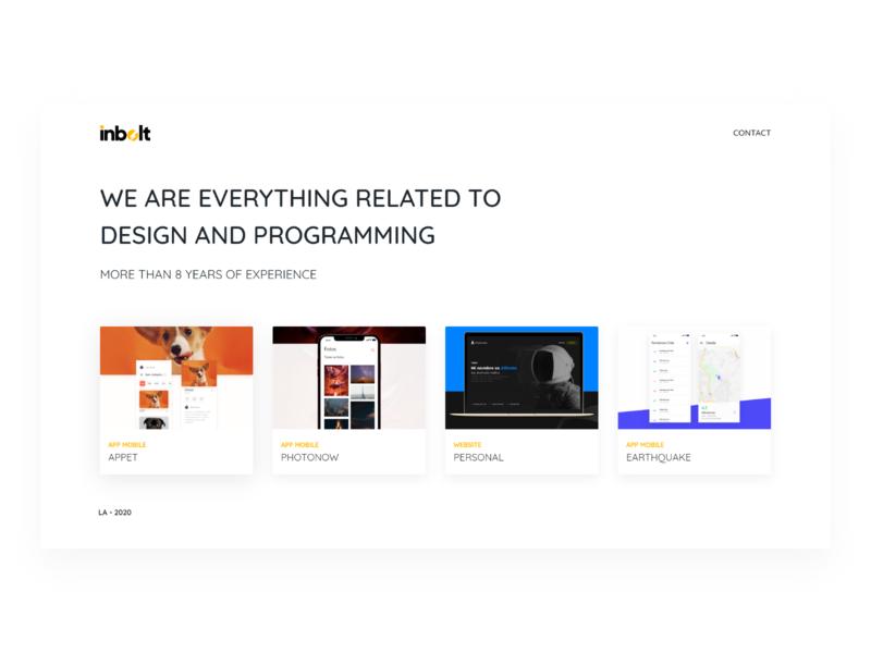 Inbolt Website webdesign web website concept website design portfolio site portfolio work design ux ui dribbble chile adobexd proyect website