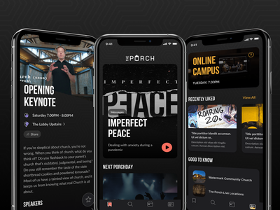 The Apollos Project — Porch App mobile pattern mobile dark mode dark ui dark mode mobile card ui mobile app ui mobile app mobile church app church app