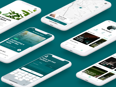 The Apollos Project mobile onboarding onboarding mobile ui music app worship app church app open source app mobile app design card ui mobile app