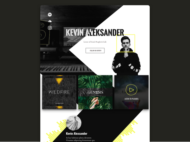 DJ Website landing page website spotify music showcase music music website