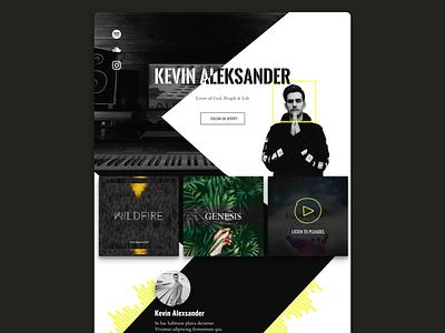 DJ Website landing page website spotify music showcase music music website