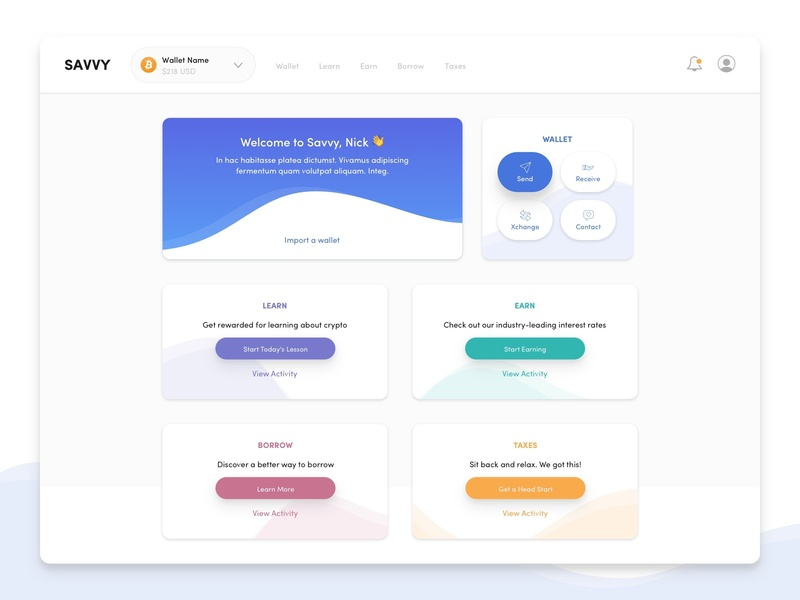Crypto Welcome Dashboard crypto wallet welcome page dashboard cards card ui dashboard ui web dashboard crypto currency crypto