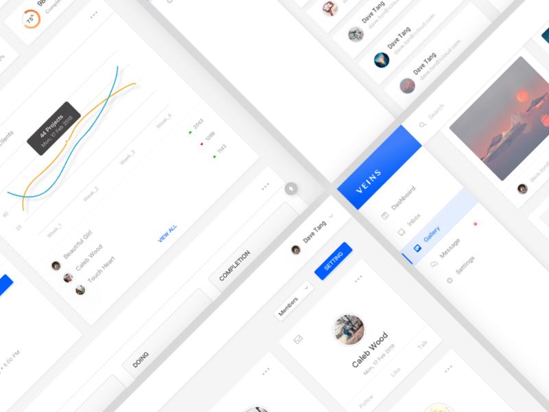 Veins - System Website Design web design icon app ui ux