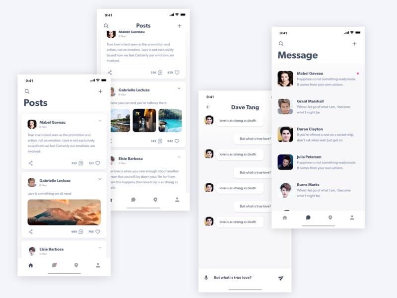 Chat APP design icon activity stream app ui ux