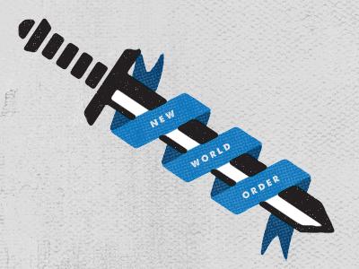 New World Order motto illustration type