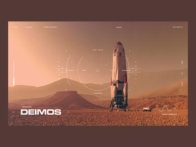 Martian Moon Deimos planet mars moon space design interface ui ux