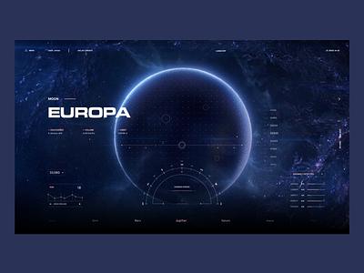 Europa Moon xd planet moon space design interface ui ux