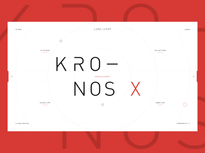 KRONOS - Eater of Planets xd planet space design interface ui ux