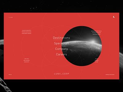 LUNA_CORP - Menu xd planet space design interface ui ux