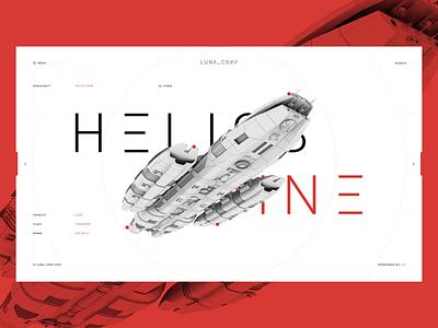 Helios Nine Spacecraft xd space design interface ui ux