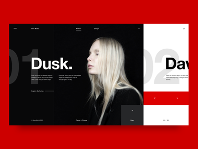 Dusk xd design interface ui ux