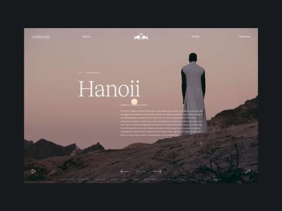 La Maison Noir typography animation type xd interface ux ui design