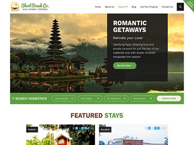 Short Break Company - Weekend Getaways mobile friendly wordpress web development web design
