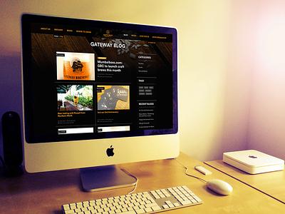 Gateway Brewery web development bespoke website design web design wordpress