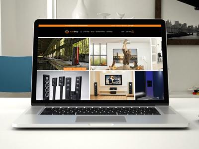 AudioShop - Website Design and Development