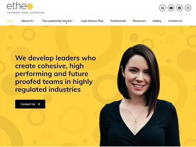 Launched Website - Etheo Limited bespoke website design responsive design web wordpress web development design web design