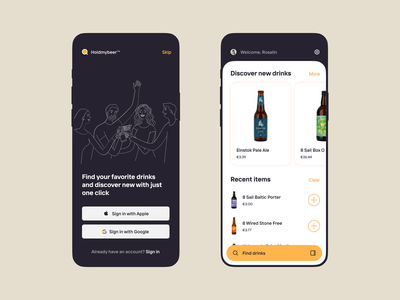 Drinks app ios suggestion cider beer design application icon app ui