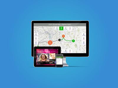 Portfolio icon for website phone tablet mac set site web icon
