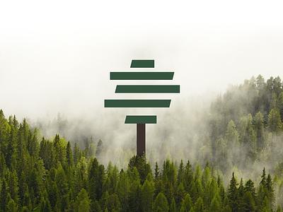 Tingin logotype knife metal leather mark tree identity branding brand logotype logo