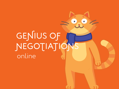Genius of negotiations web design ux ui brand logo negotiations genius