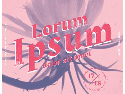 Lorum Ipsum flower grunge poster pink lorum ipsum shot design