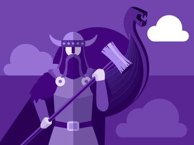 Norwegian learn language viking winter purple illustration norwegian