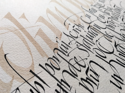 Italic practice gestural lettering hand lettering calligraphy italic