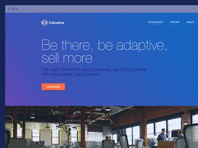 Calcative Landing page uidesign responsive webdesign