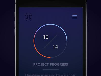 Project Progress Bar for Quantified Company progress bar ui design mobile design