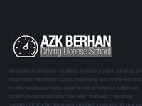 Azk BERHAN DRIVING SCHOOL Logo + Branding