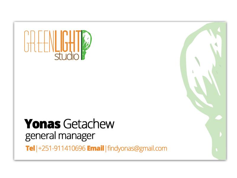 Green Light Studio Business Card Design logo graphic design branding