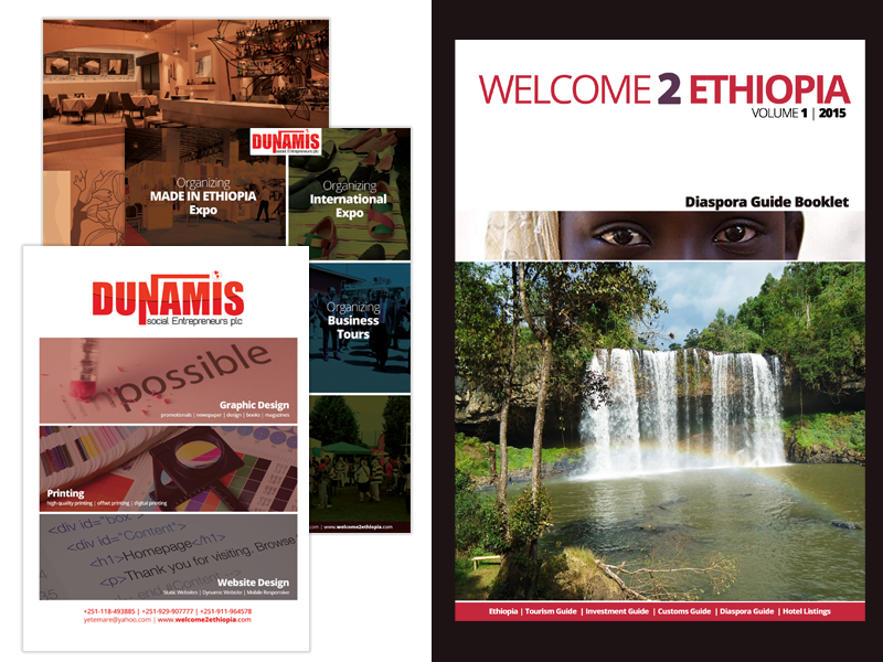 Welcome2Ethiopia Booklet Design print design graphic design branding