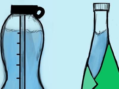 Bottle Design for a water bottle making client
