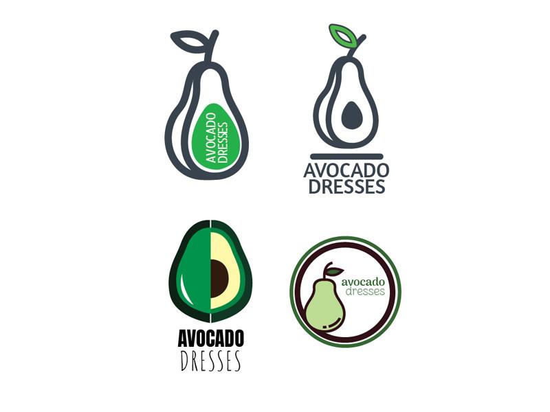 Avocado Dresses Logo Rebranding Work graphic design logo branding